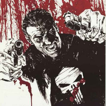 The Punisher Marvel Comics Art Poster 22x34