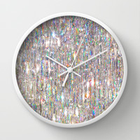 To Love Beauty Is To See Light (Crystal Prism Abstract) Wall Clock by soaring anchor designs ⚓ | Society6