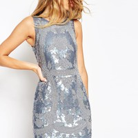 Needle & Thread Dust Lace All Over Embellished Mini Dress at asos.com