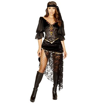 Sexy Esmeralda Sinful Gypsy Outfit with Accessories