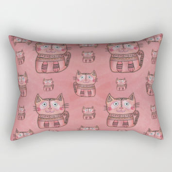 Tribal Cat Rectangular Pillow by Shashira Handmaker