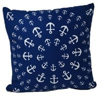 "Anchor Pinwheel Pillow 16"" x 16"" - Faux Suede"