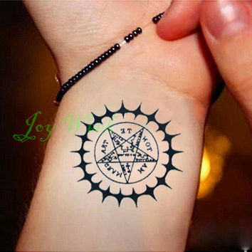 Waterproof Temporary Tattoo Sticker Black Butler Contract Symbol compass Water Transfer fake tattoo flash tattoos for men women
