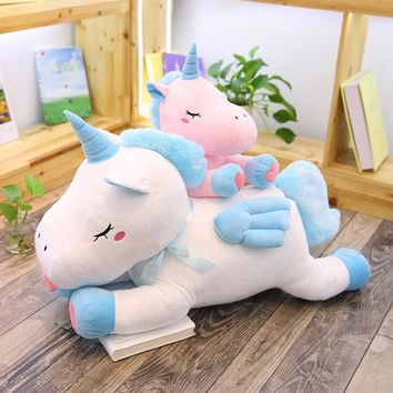 50CM/75CM Unicorn Plush Toy Soft Stuffed Cartoon Flying Unicorn Dolls Animal Horse High Quality Gift for Children