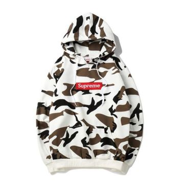 DCCKHQ6 Supreme fashion fresh camouflage hoodie Sweater