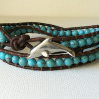 GOOD LUCK DOLPHIN Genuine Turquoise by Jennasjewelrydesign on Etsy