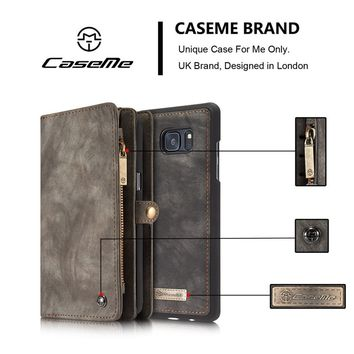 Brand New CaseMe Luxury Magnetic Genuine Leather Wallet Stand Case Cover Back For iPhone 6 6 Plus 6S 6S Plus 7 7 Plus