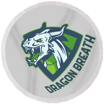 Dragons Breath - Round Beach Towel