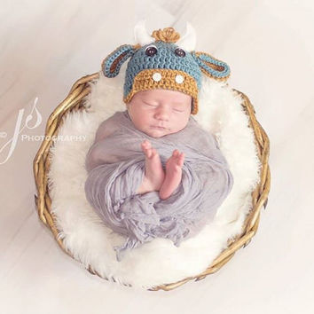 Bull, Newborn Hat, Baby, Photo Prop, Photography Prop, Farm Hat, Newborn, Baby, Boy, Cow, Baby Shower Gift, Shower Gift, Farmer, Farm