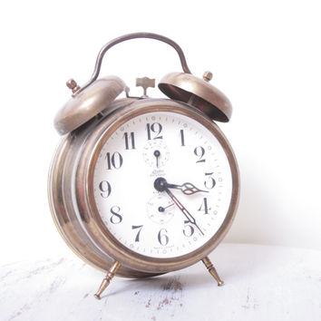 Antique Linden Made in Germany Manual Clock by thejunkhaus on Etsy