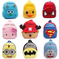 Children's gifts kindergarten students bags cute Mochila new cartoon kids plush backpack toys mini schoolbag