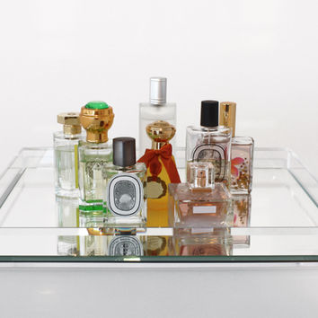 Vanity Mirrored Tray - Clear