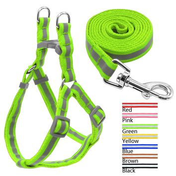 7 Colors Nylon Reflective Dog Harness Leash