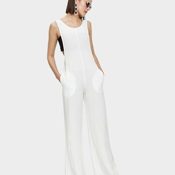 Farrow / Senn Jumpsuit in White