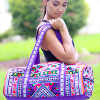 Diamond Embroidered Duffle Bag