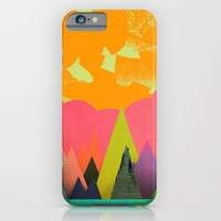 Mountain Town iPhone & iPod Case by Amelia Senville