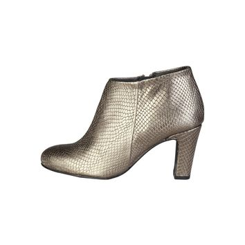 Pierre Cardin Gold Leather Snakeskin ankle boot