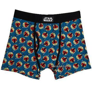 Licensed cool NEW Star Wars Boba Fett Heads Bounty Hunter Men's Boxer Briefs Underwear S-M