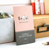 Iconic Perytale sticky book with different designed sticky note