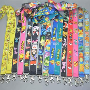 Free Shipping Espeon Umbreon Ash Ketchum  Mewtwo Ho-Oh Eevee Jolteon Flareon Lanyard Key Card ID Chain Neck Straps Party Gifts