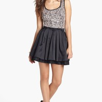 Trixxi Lace Bodice Skater Dress (Juniors) | Nordstrom