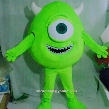 Monsters University Mike Mascot Costume,Cosplay Costume,Clothing for Adults,Halloween Mascot,Party Costume,Christmas Costume,Cosplay Costume
