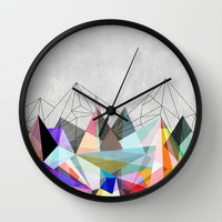 Colorflash 3 Wall Clock by Mareike Böhmer Graphics