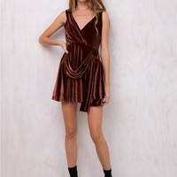 Hollywood Gala Velvet Dress