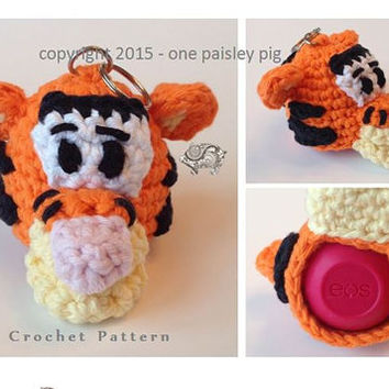 Tigger EOS Lip Balm Holder - Instant Download CROCHET PATTERN