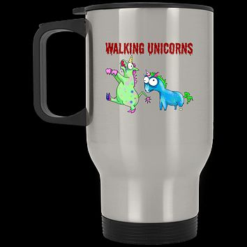 Walking Unicorns Stainless Travel Mug
