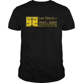 Law offices of vincent L Gambini representing yutes since 1992 shirt Guys Tee