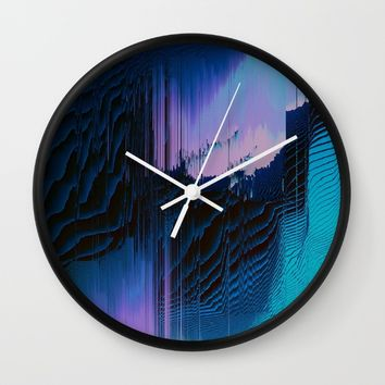 Lavender Oil Wall Clock by Ducky B