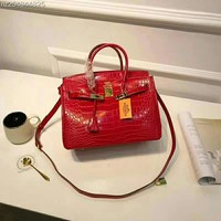 HERMES Women Fashion Leather Satchel Shoulder Bag Handbag Crossbody HERMES