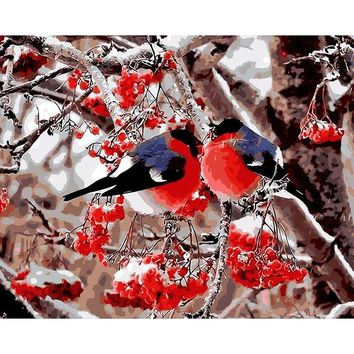 No Frame Picture Birds Lover DIY Painting By Numbers Abstract Modern Wall Art Picutre Acrylic Paint On Canvas For Living Room