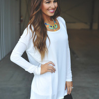 Cross Strap Tunic- Ivory