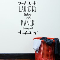 Vinyl Wall Decal Laundry Room Quote Bathroom Decoration Art Stickers Mural (ig5572)
