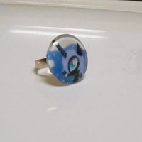 My Little Pony Nightmare Moon Luna Crystal Cabochon Adjustable Ring mlp jewelry