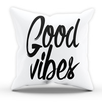 Good Vibes Cushion Novelty Cushion Bedroom Cushion Pillow Bed Throw Gift Swag Dope Cushion Funny Cushion 213