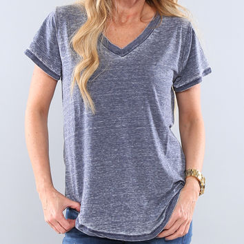V-Neck Burnout Tee