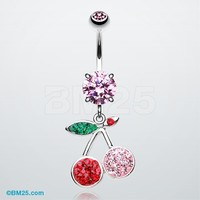 Tiffany Cherry Delight Belly Button Ring
