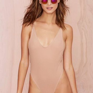 Nasty Gal Alina Swimsuit - Blush