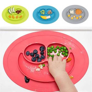 Kid's Anti-Spill Plate Mat