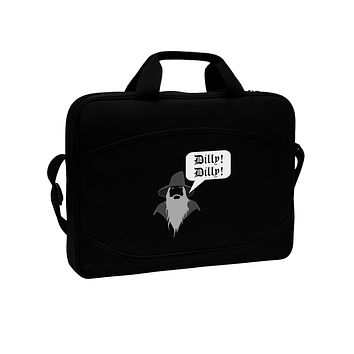 """Wizard Dilly Dilly 15"""" Dark Laptop / Tablet Case Bag by TooLoud"""