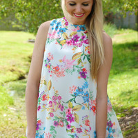 Fresh Floral Blouse-Ivory