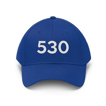 California 530 Area Code Embroidered Twill Hat