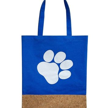 Two Material Paw Print Tote Bag Accessory 66