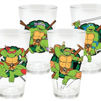 Teenage Mutant Ninja Turtle 4pc. 16oz. Drinking Glass Set