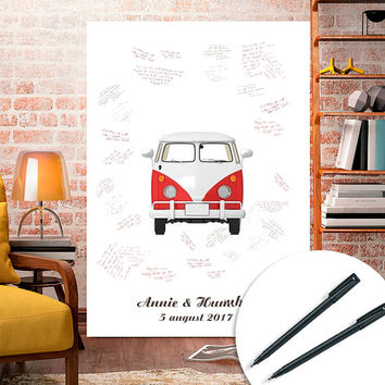 Guest book sign poster wagen printable, Wedding, baby shower personalized
