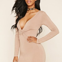Knot-Front Bodycon Dress
