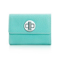 Tiffany & Co. - Compact wallet in Tiffany Blue® grain leather. More colors available.